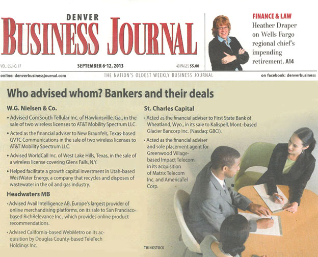 business journal investment banking transaction