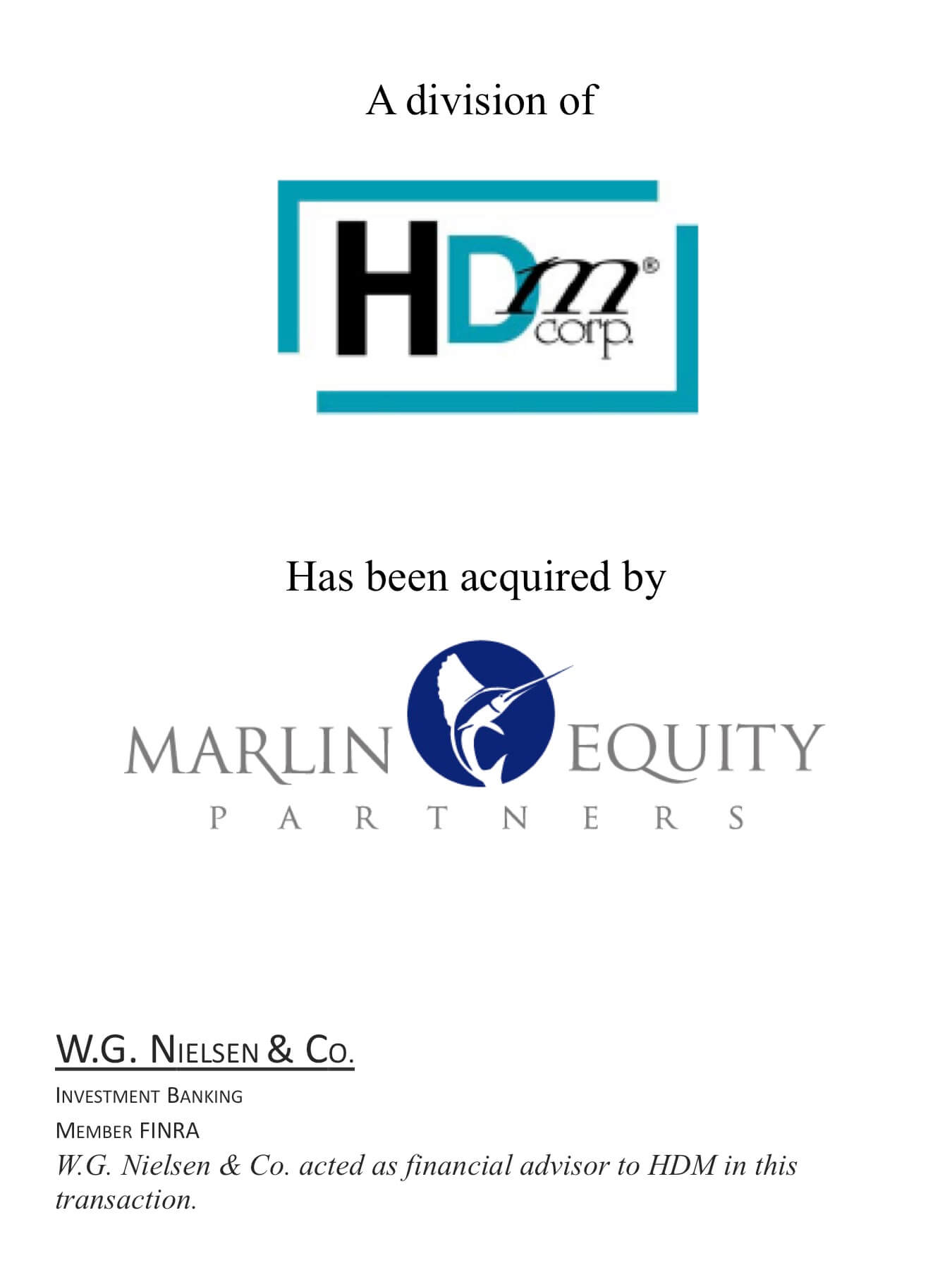 hdm investment banking transaction