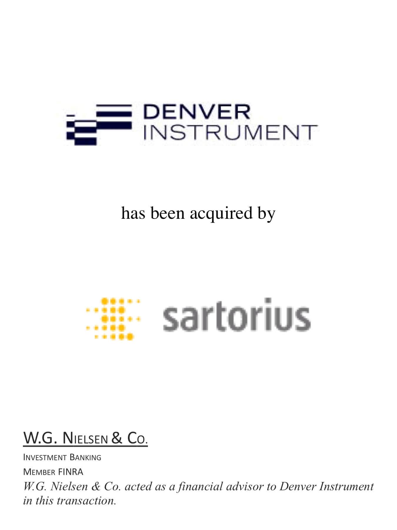denver instrument investment banking transaction