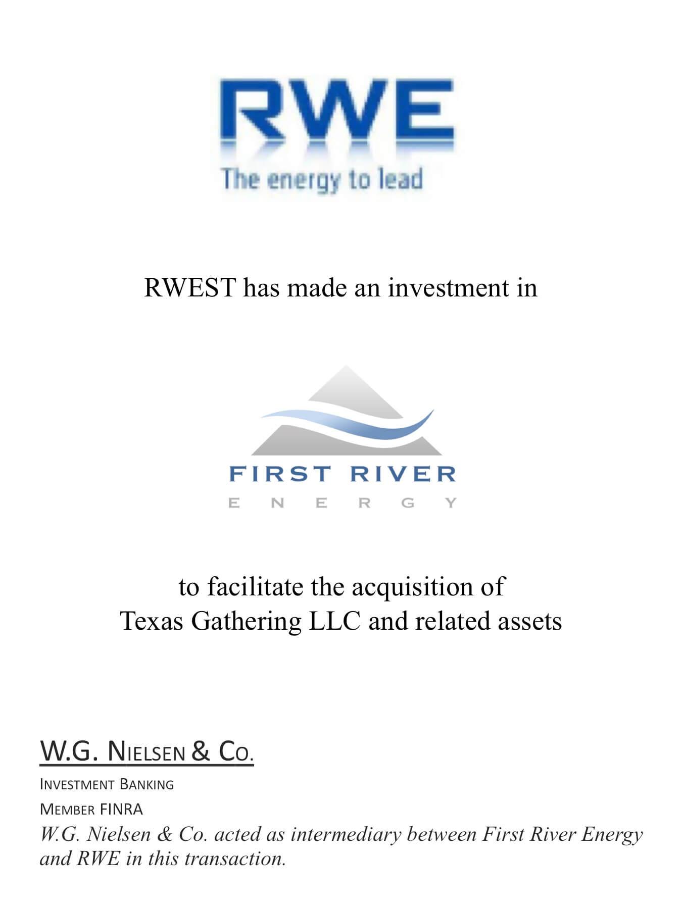 rwe investment banking transaction