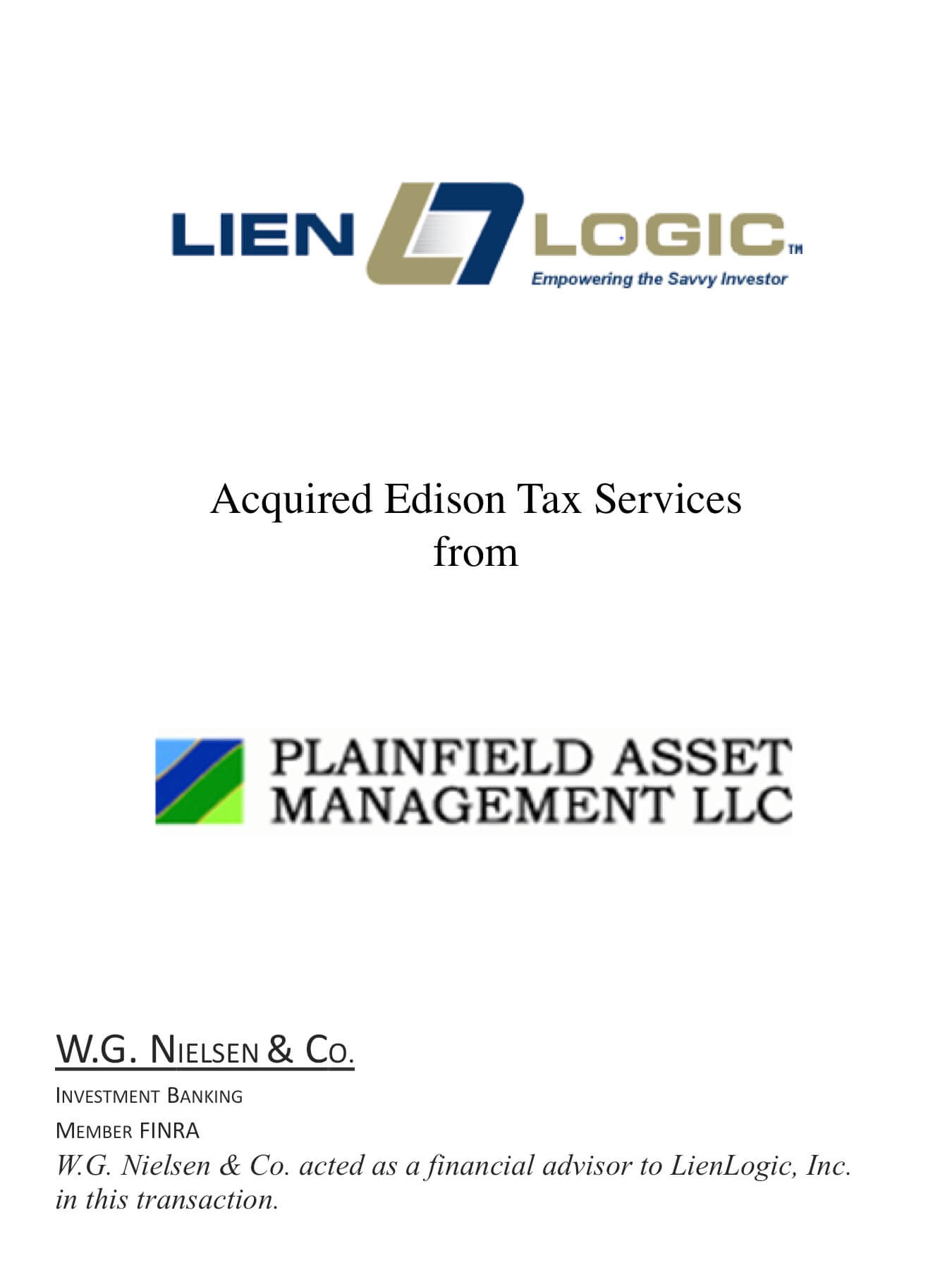 lien logic 2 investment banking transaction