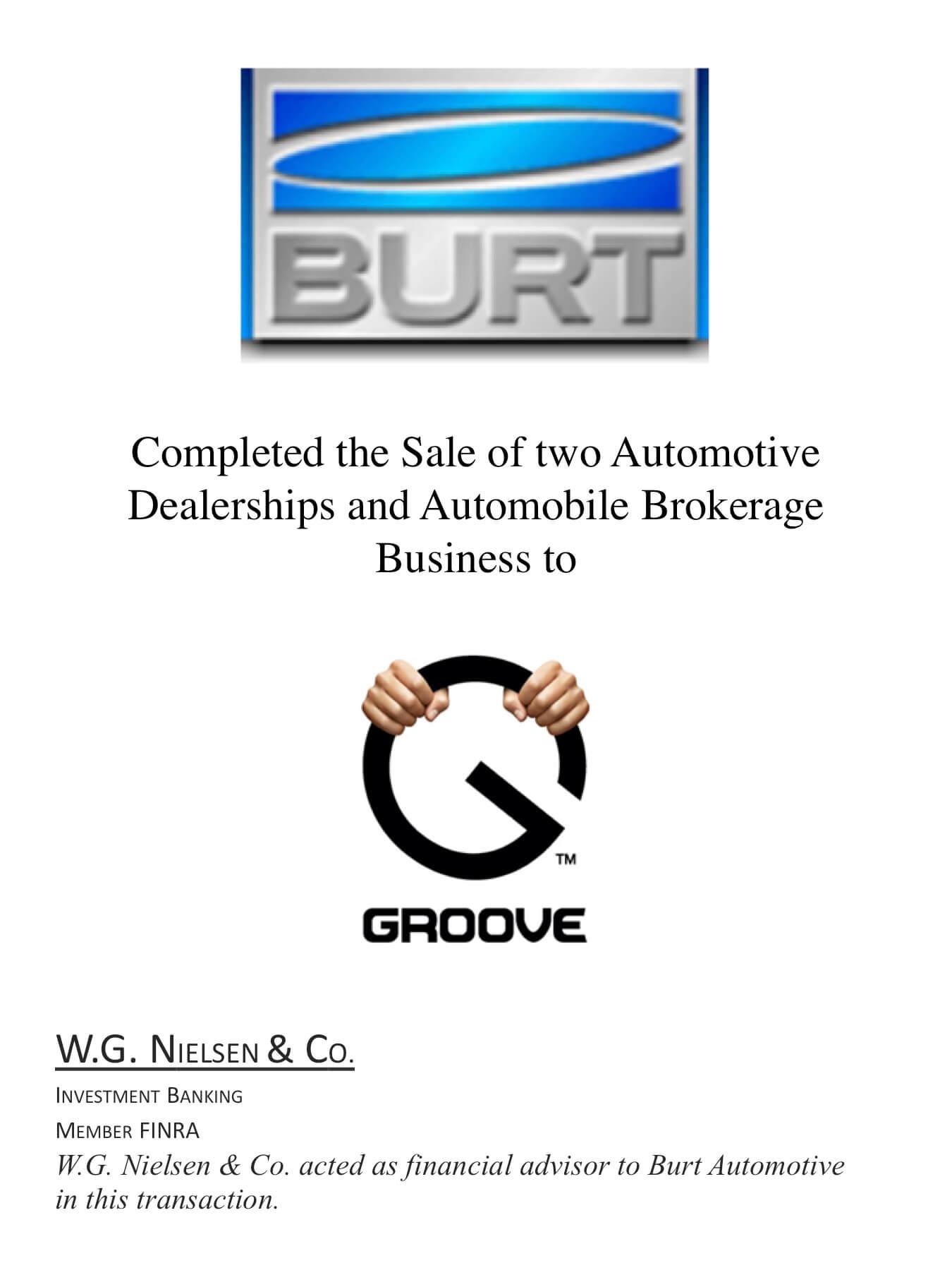 burt investment banking transaction