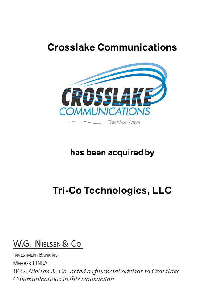 crosslake communications investment banking transaction