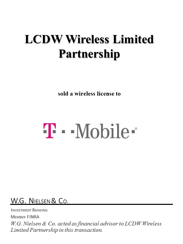 lcdw wireless limited investment banking transaction