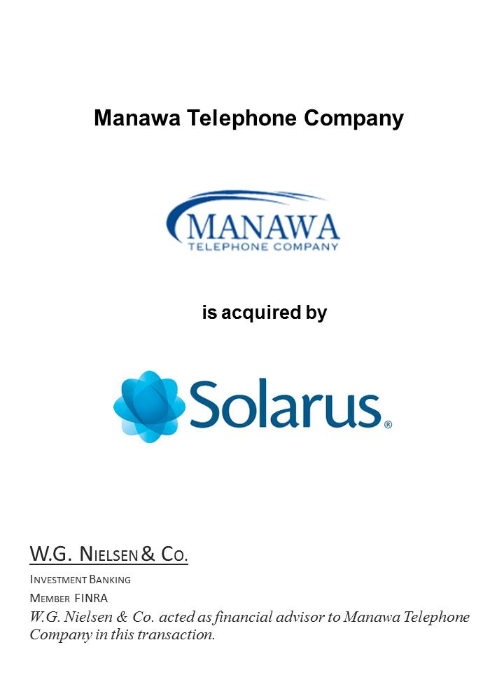 manawa telephone company investment banking transaction