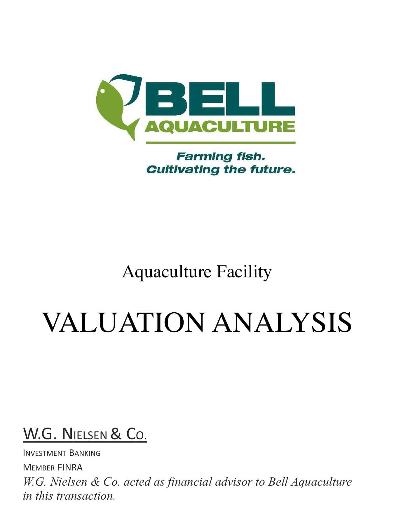 bell aquaculture 2 investment banking transaction