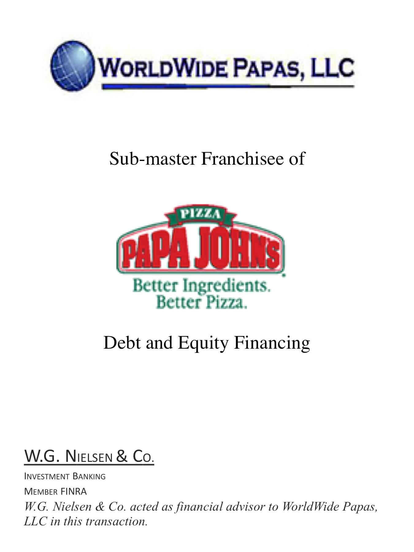 worldwide papas investment banking transaction