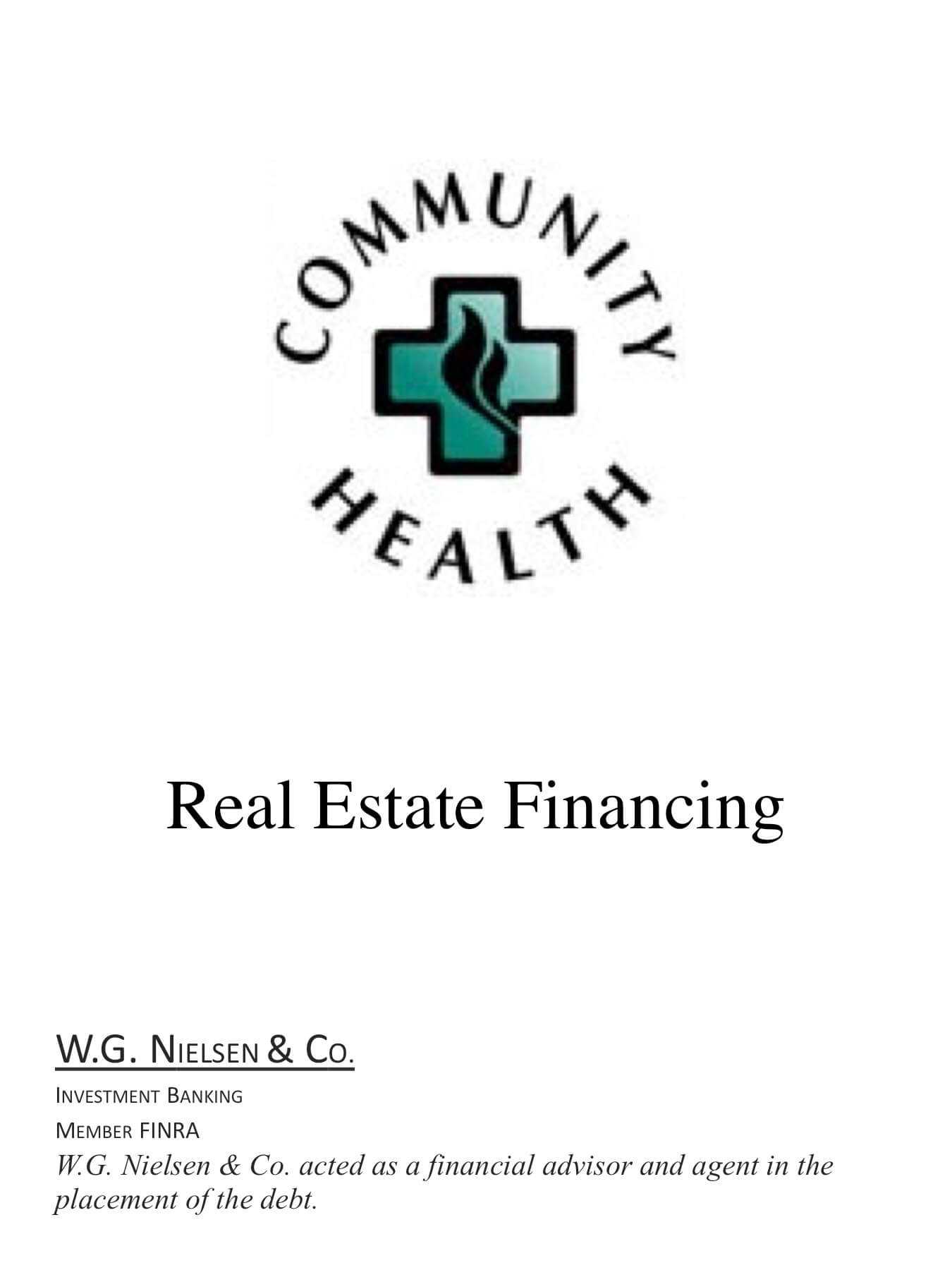 community health 2 investment banking transaction