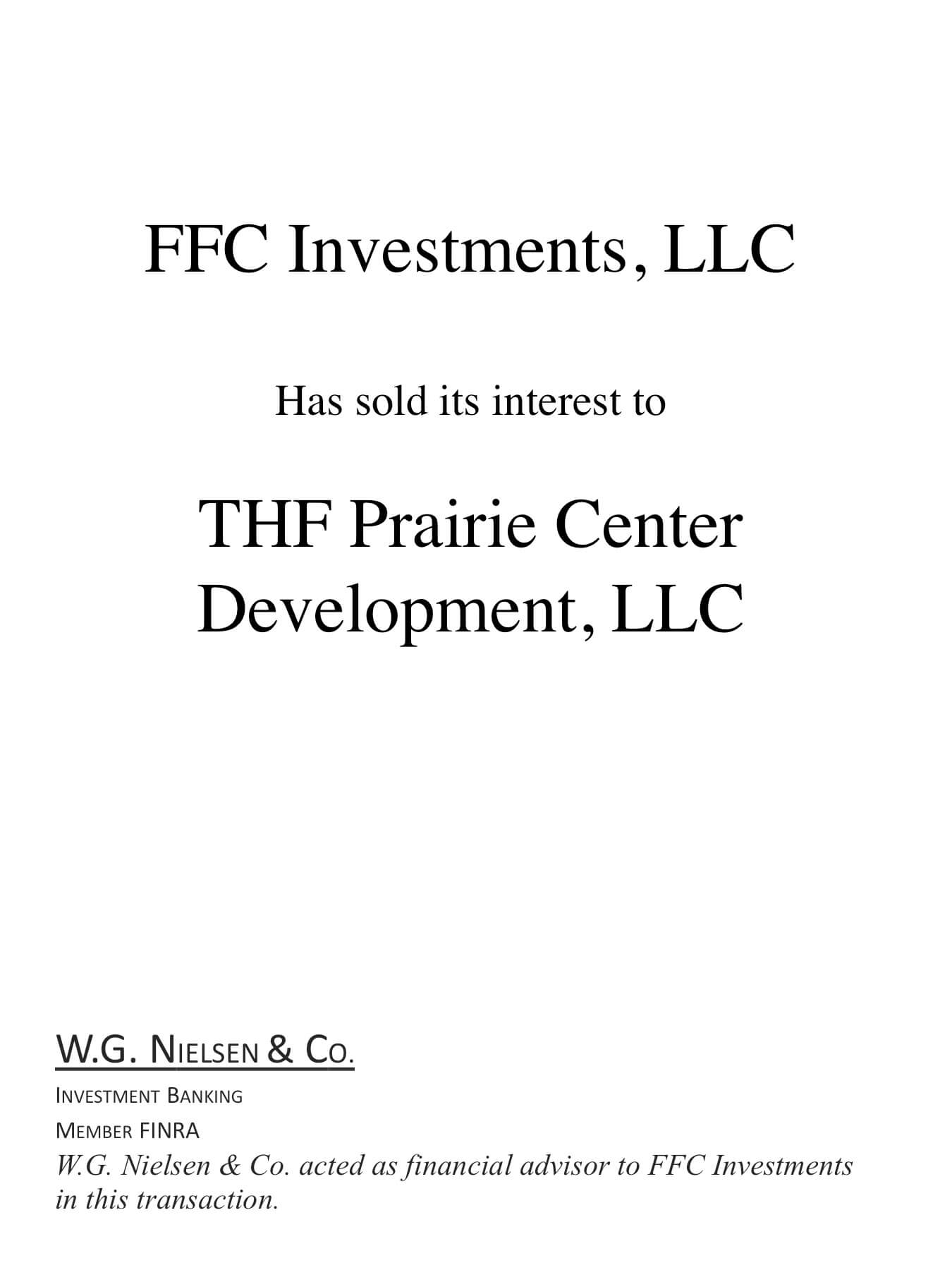 ffc investments investment banking transaction