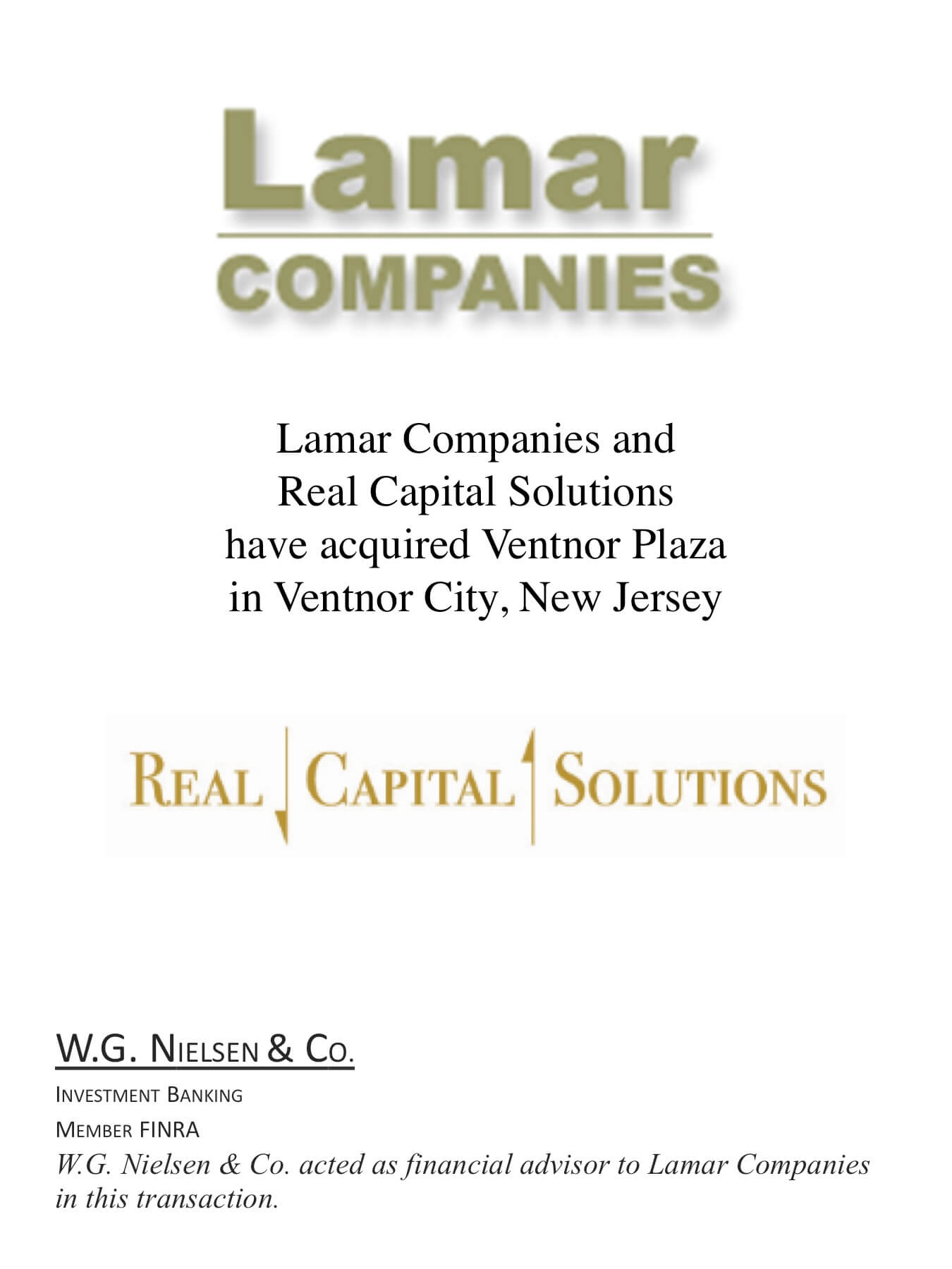 lamar companies investment banking transaction