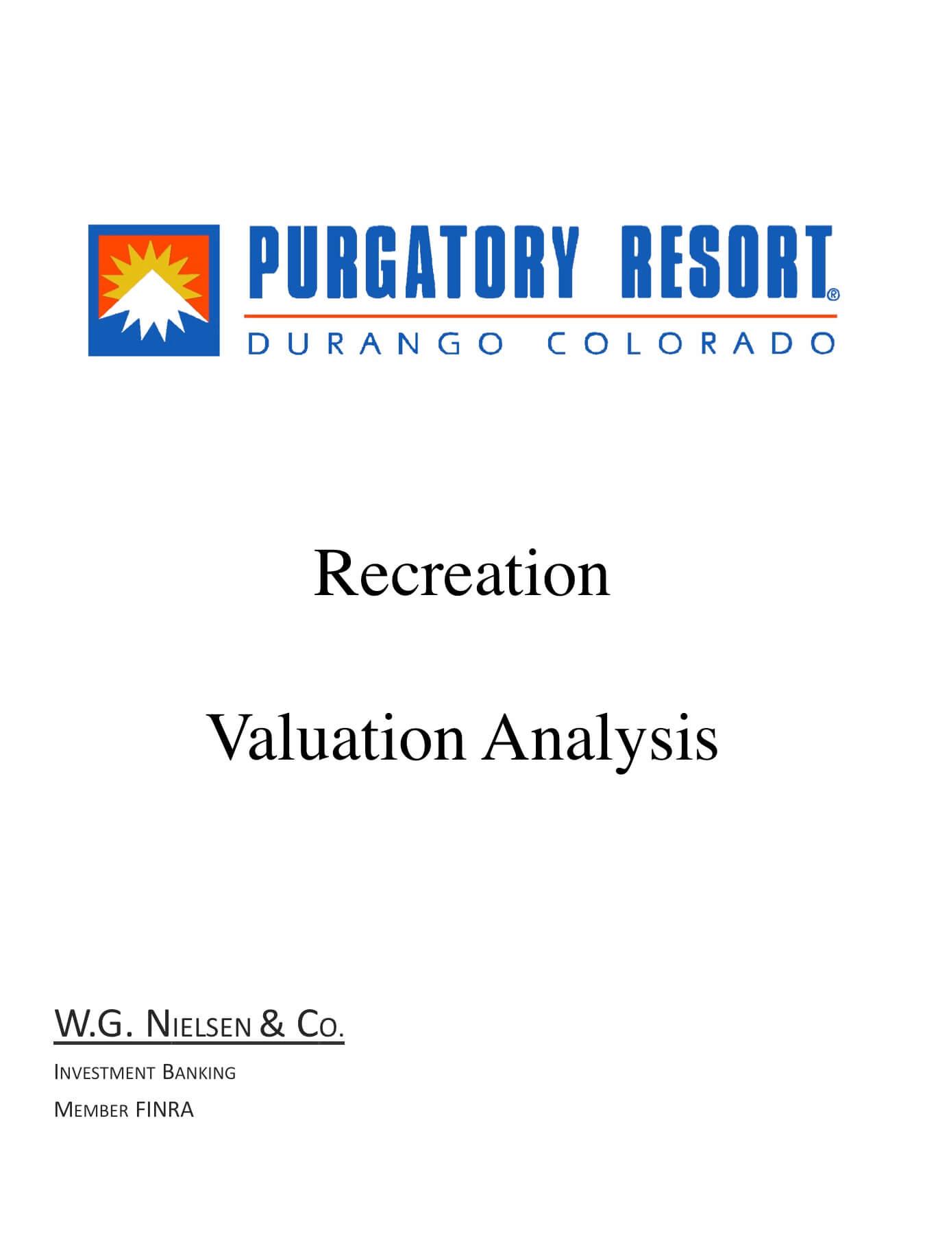purgatory resort durango investment banking transaction
