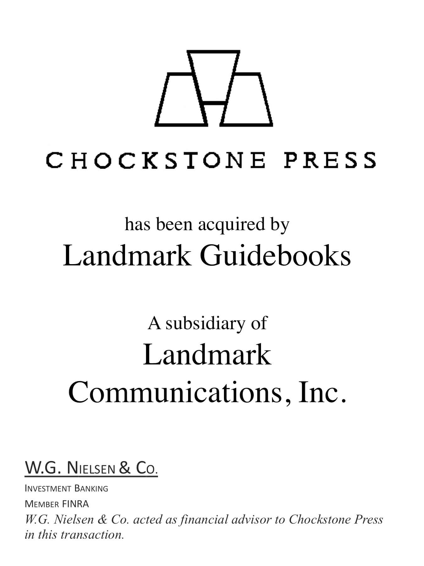 chockstone press investment banking transaction