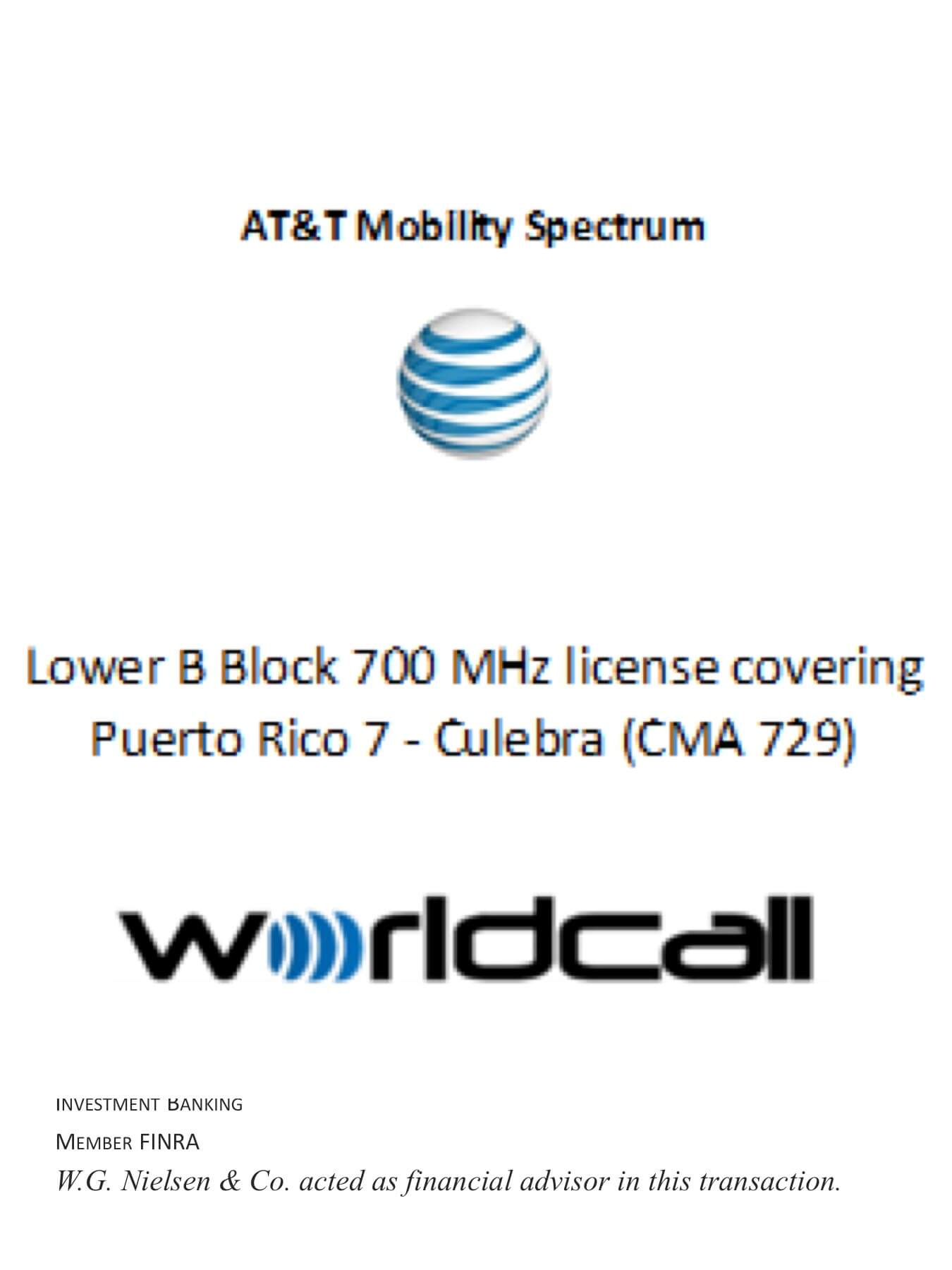 at&t mobility spectrum 6 investment banking transaction