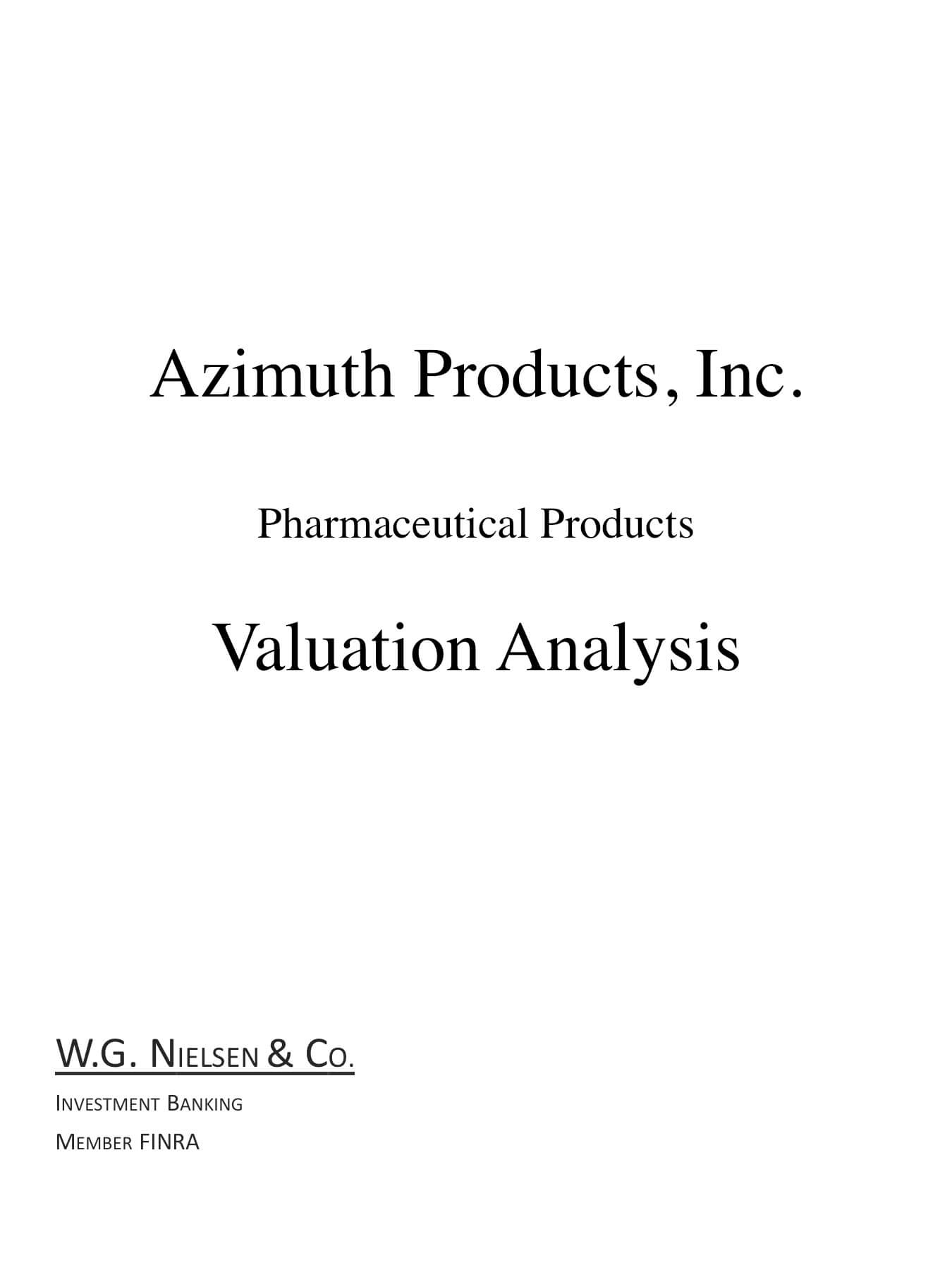 azimuth products investment banking transaction
