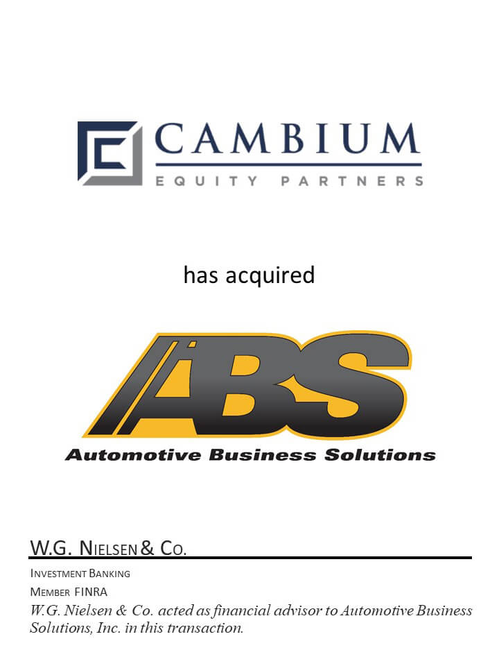 investment banking transaction for automotive business systems