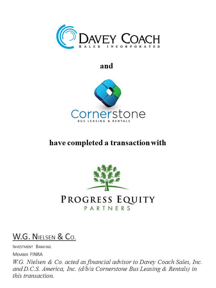 davey coach investment banking transaction