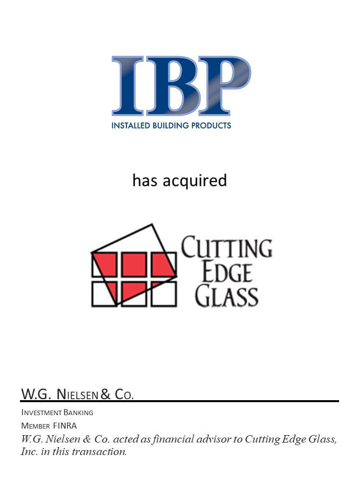 ibp financial acquisition of cutting edge glass