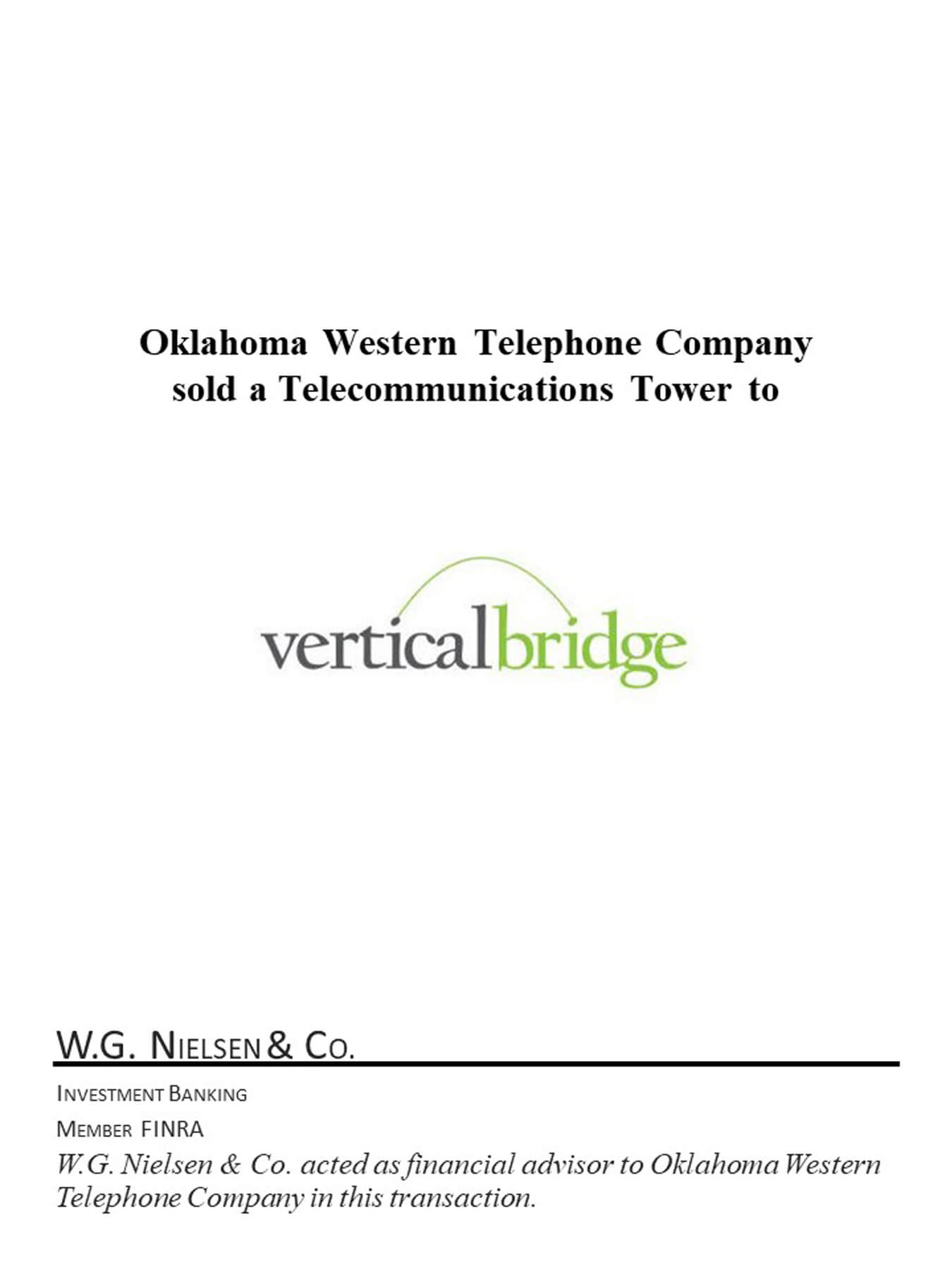 oklahoma western telephone financial transaction