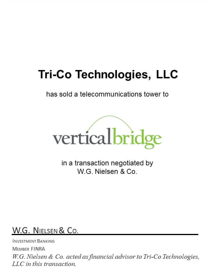tri-co technologies investment banking transaction