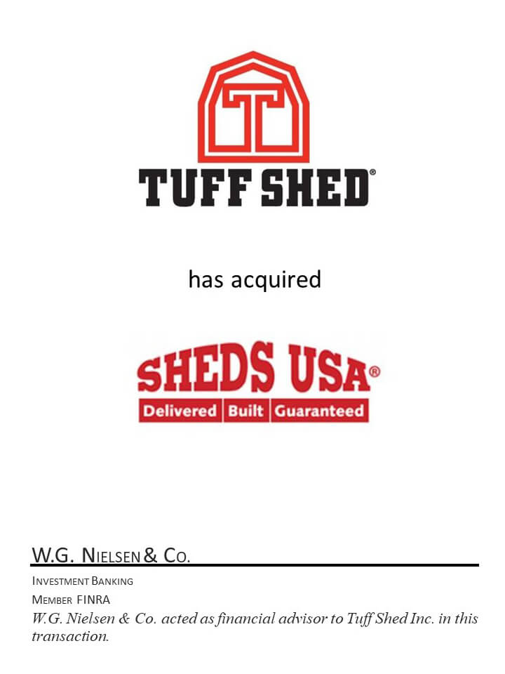 tuff shed investment banking acquisition of sheds usa